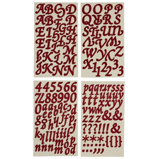Recollections™ Alphabet Stickers, Elegant Letters