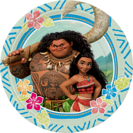 Disney Moana Birthday Cake Plates