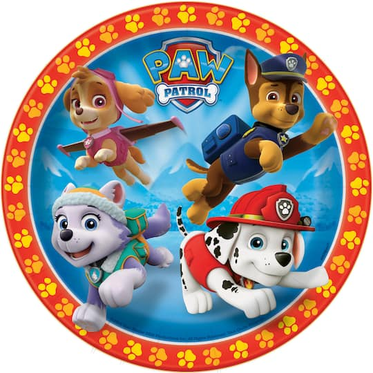 7 PAW Patrol Party Plates 8ct