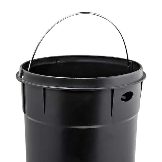 Honey Can Do Red Soft Close Kitchen Trash Can, 30L