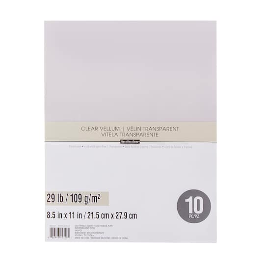 Shop For The Clear Vellum Sheets By Recollections At Michaels