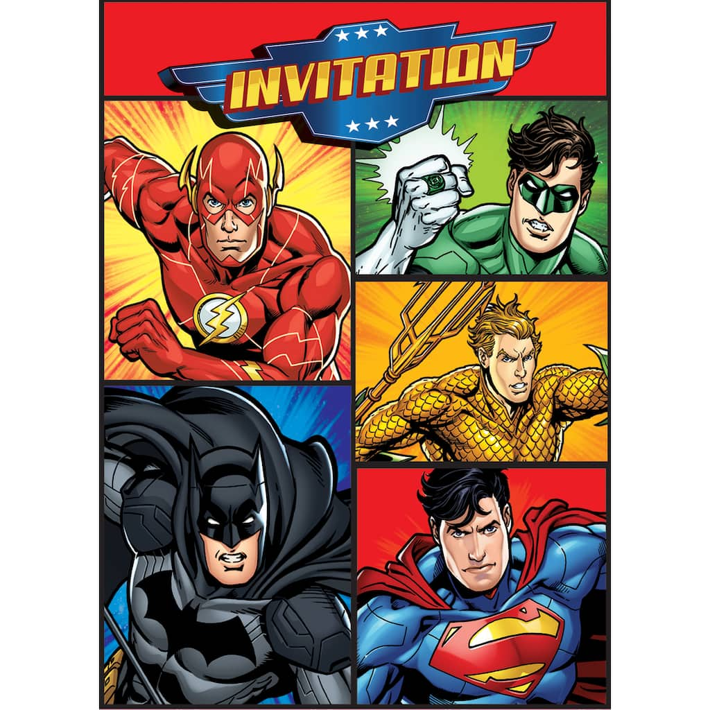 Justice League Invitations Free: Justice League Party Invitations