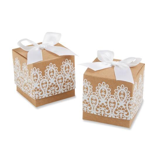 Kate Aspen Rustic Lace Kraft Favor Box 24 Pack