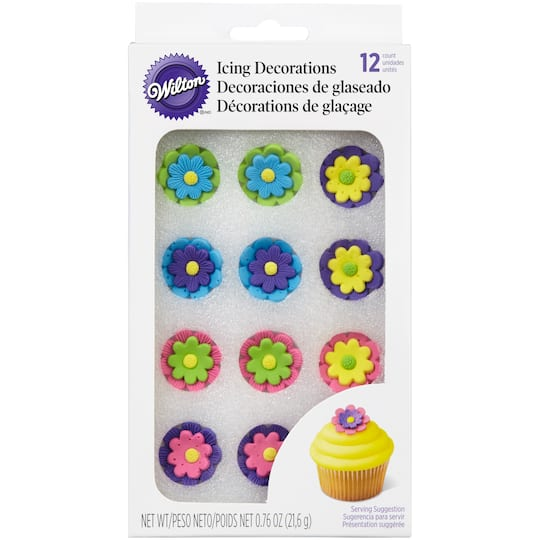 Buy The Wilton Icing Decorations Bright Flower Candy At Michaels