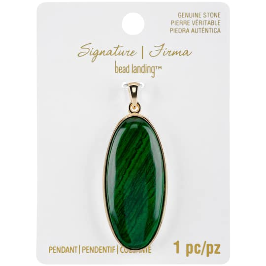 Buy The Signature Sedona Malachite Slice Pendant By Bead