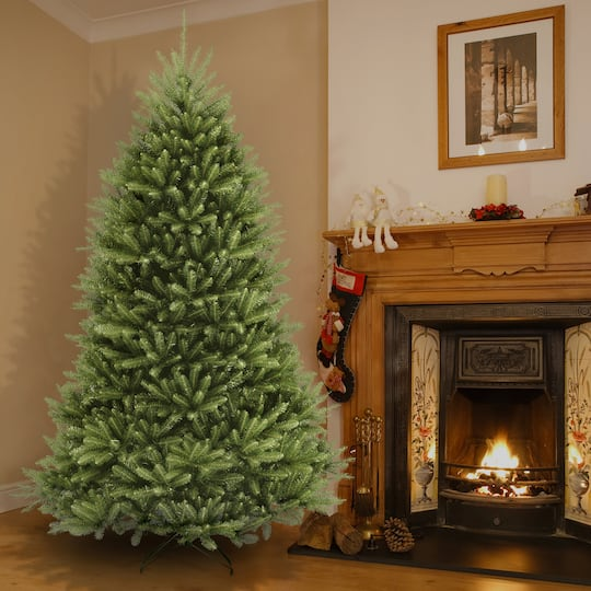 9 ft unlit dunhill fir full artificial christmas tree