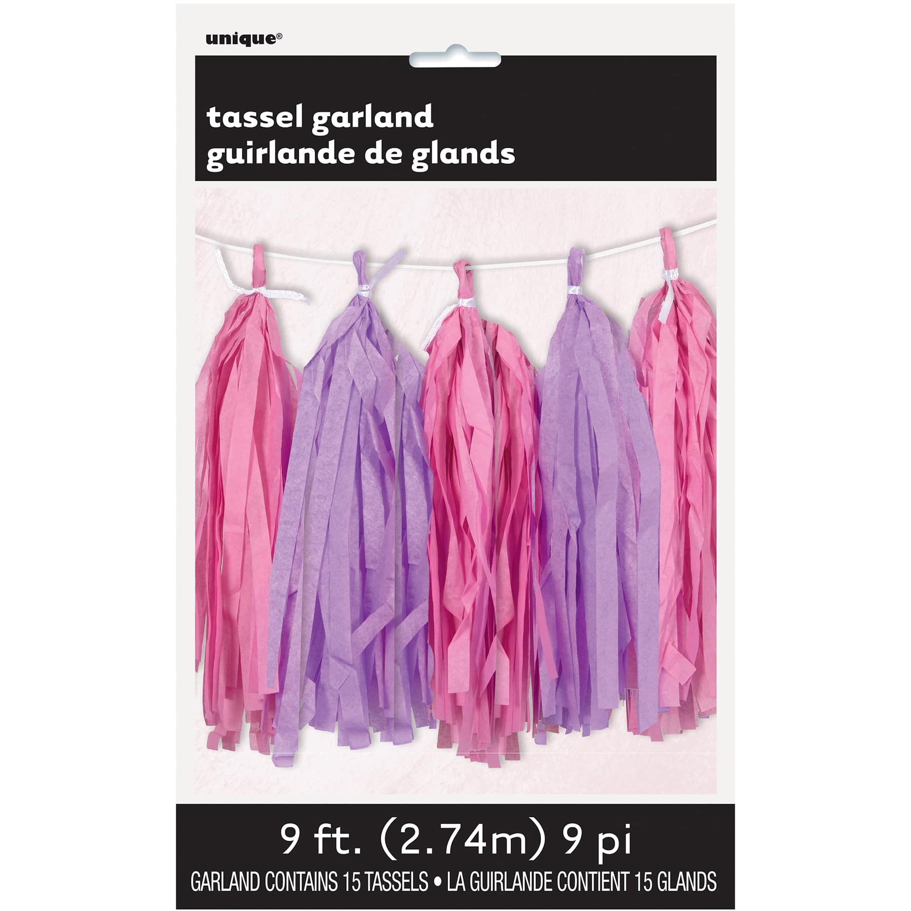 Pink And Purple Tissue Paper Garland Pink And Purple Party Decorations