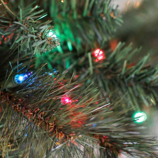 7ft. Pre-Lit Willow Pine Artificial Christmas Tree, Multicolor Lights by Ashland®   Michaels