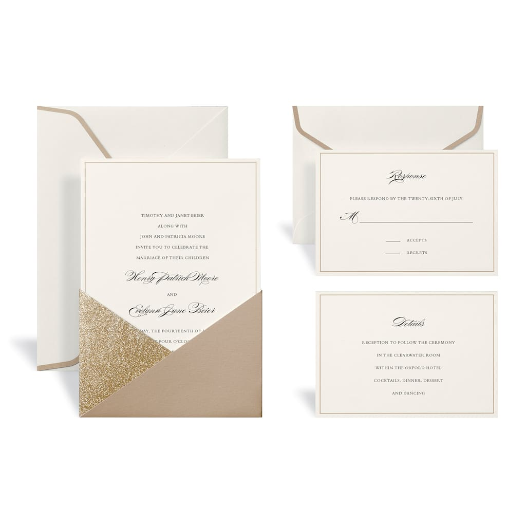 Shop for the Gold Wedding Invitation Kit By Celebrate It™ at Michaels
