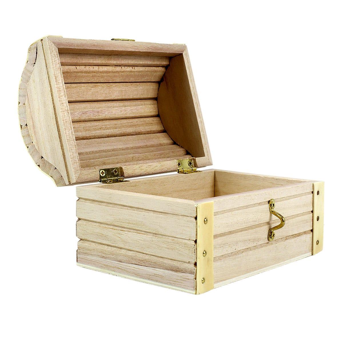 Old Style Treasure Chest Small Wooden Treasure Box