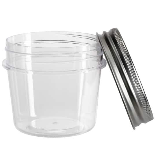 10 Count 4oz  Plastic Mason Jars By Craft Smart™
