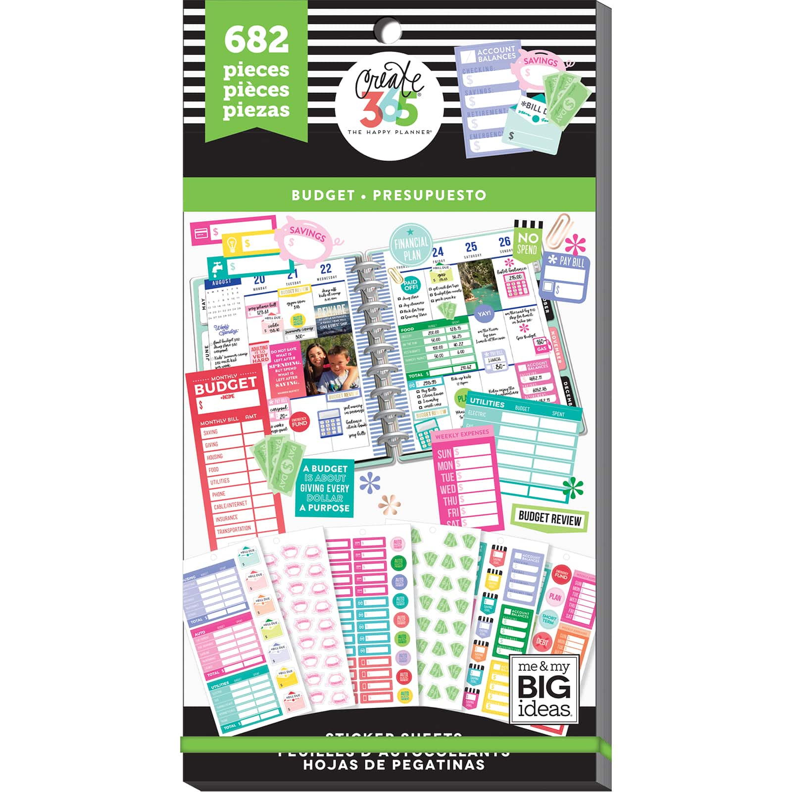 Me and My Big Ideas Create 365 Planner Stickers 5 SheetsPkg-Everyday Reminders,