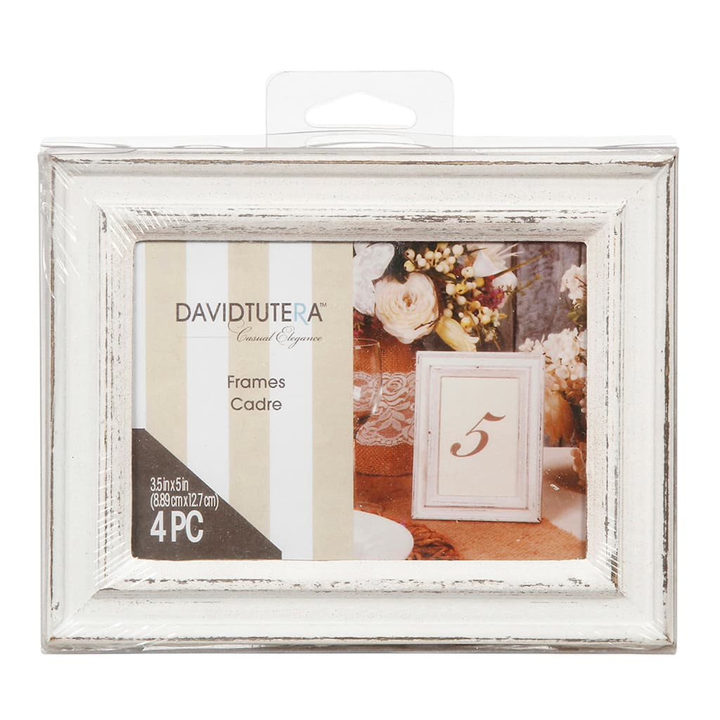 David Tutera™ Whitewash Wedding Table Picture Frame Set