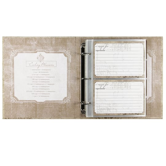CR GibsonR Perfect Setting Pocket Page Recipe Book