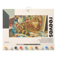 buy the reeves large paint by number resting cat at michaels