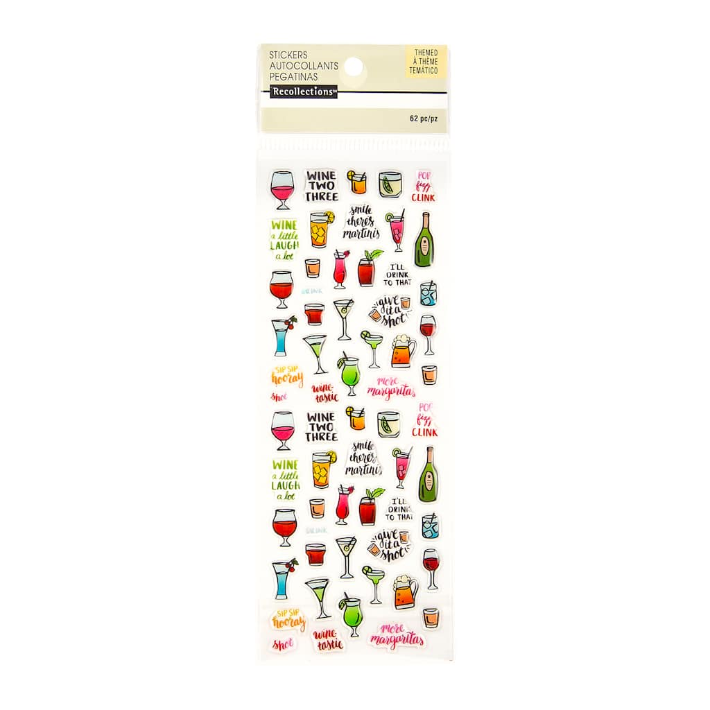 Get The Mini Alcohol Glass Stickers By Recollections At