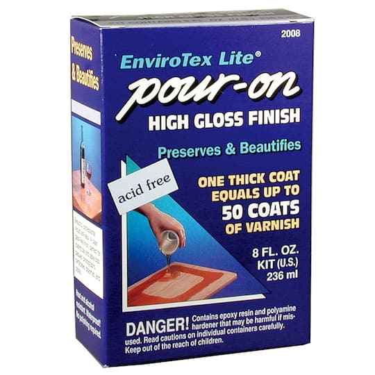 EnviroTex Lite® Pour-On High Gloss Finish