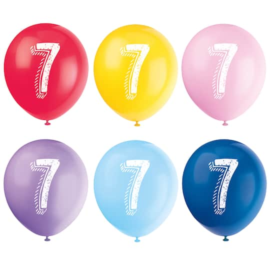 Number 7 Birthday Balloons