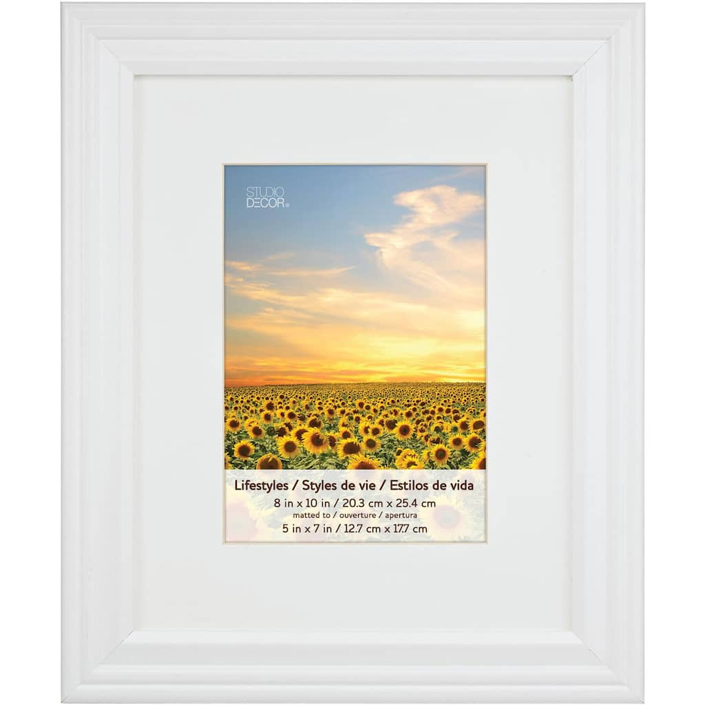 White Frame With Mat Lifestyles By Studio Décor