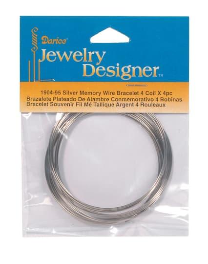 Dark Silver 4 Coil Memory Wire Bracelets Pack