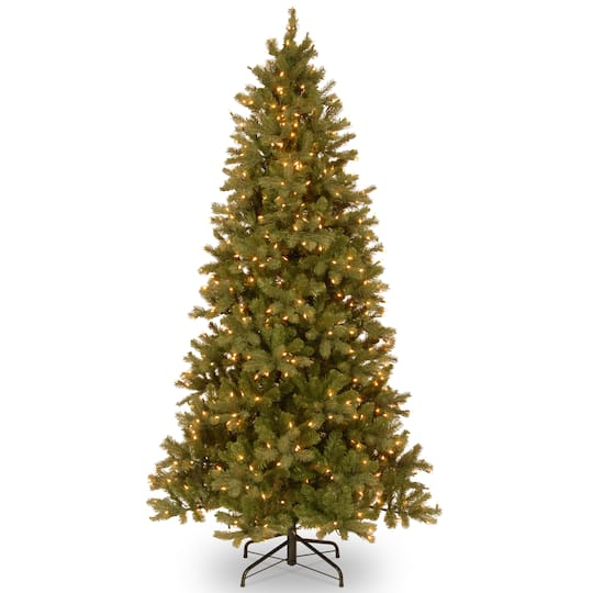 7 5 Ft Pre Lit Feel Real Downswept Douglas Slim Artificial Christmas Tree Clear Lights