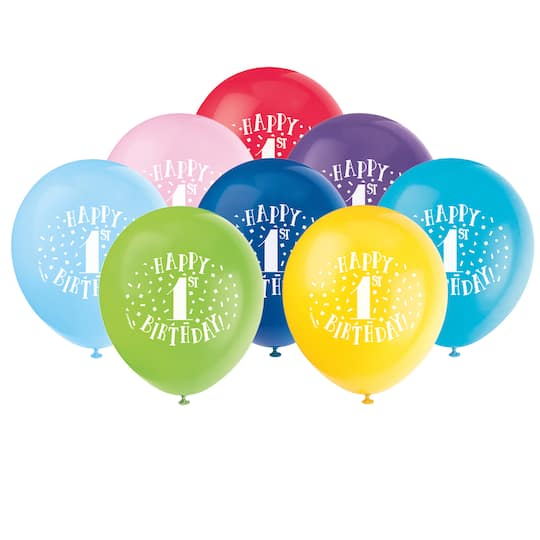 Happy First Birthday Balloons