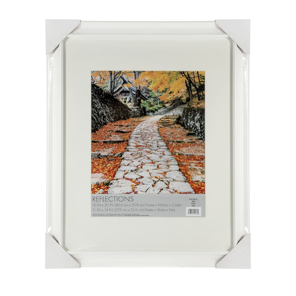 Darice® Beveled Edge Picture Frame: White, 11 x 14 inches