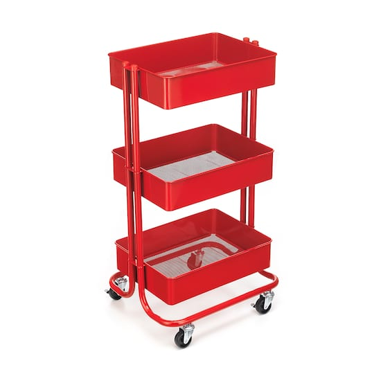 Buy The Red Lexington 3 Tier Rolling Cart By Recollections At Michaels