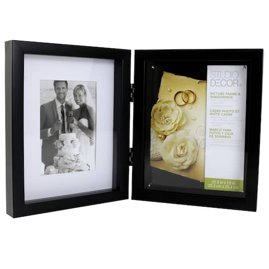 Black Hinged Double Shadow Box 8 X 10 By Studio Décor