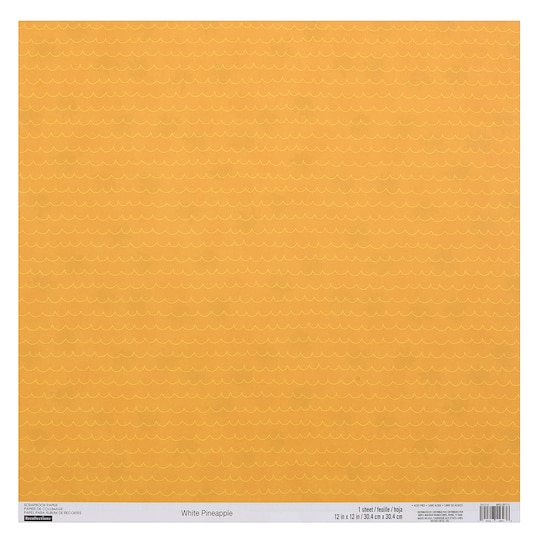 Shop For The White Pineapple Double Sided Scrapbook Paper By