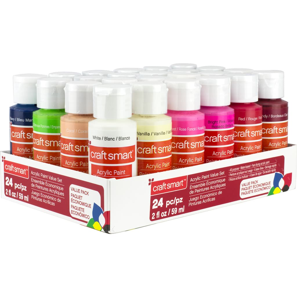 Buy the Acrylic Paint Value Pack By Craft Smart™ at Michaels