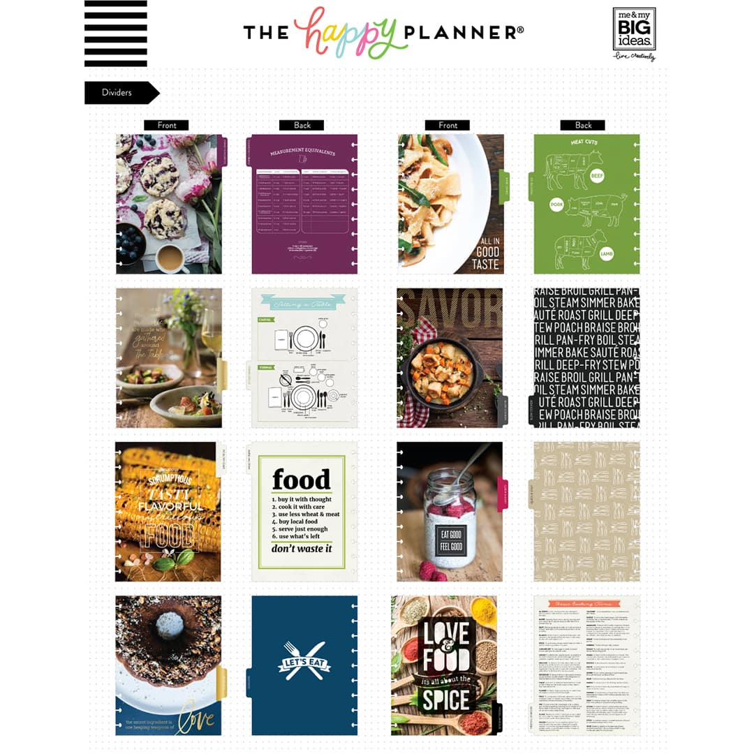 It is an image of Happy Planner Recipe Printable regarding chore
