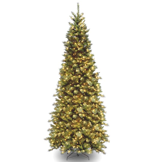 10 ft. Pre-lit Tiffany Fir Slim Artificial Christmas Tree, Clear Lights.  img. img img - Buy The 10 Ft. Pre-lit Tiffany Fir Slim Artificial Christmas Tree