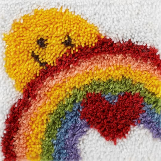 Wonderart Latch Hook Kit, Sunshine Rainbow