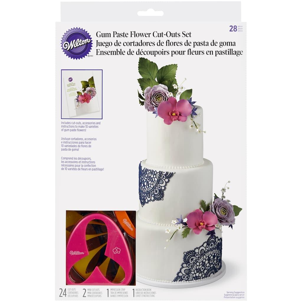 Wilton gum paste flower cut outs set img izmirmasajfo