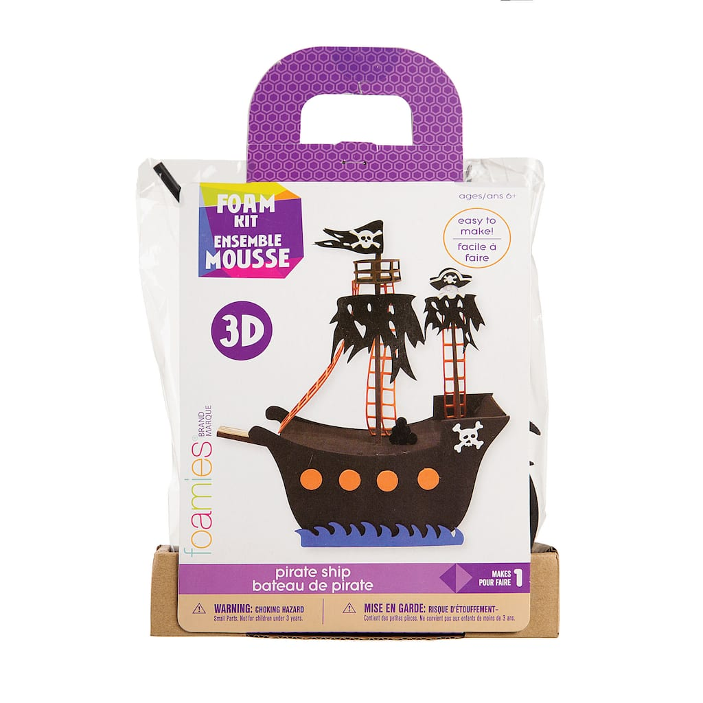 Foamies® 3-D Pirate Ship Foam Kit