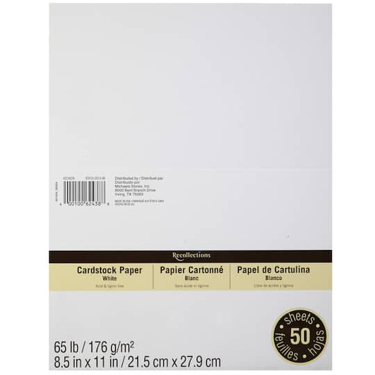 find the cardstock paper value pack by recollections at michaels