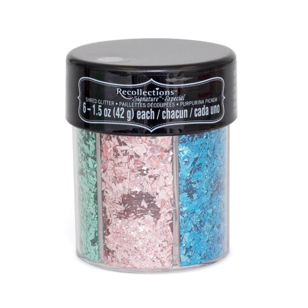 Find the Signature™ Shred Glitter Caddy By Recollections™ at Michaels