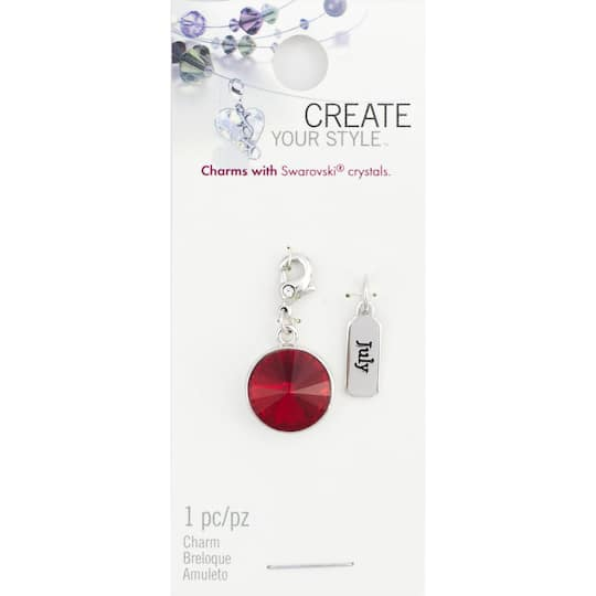 74dbfa55a11d Buy the Create Your Style™ Swarovski® July Birthstone Charms at Michaels