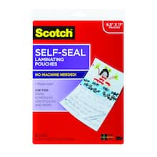 Shop for the Scotch™ Self-Seal Laminating Pouches, 8.5\