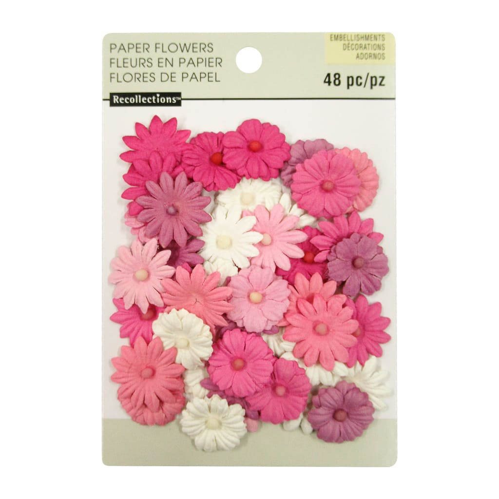 Buy The Multicolored Mixed Daisy Paper Flower Embellishments By