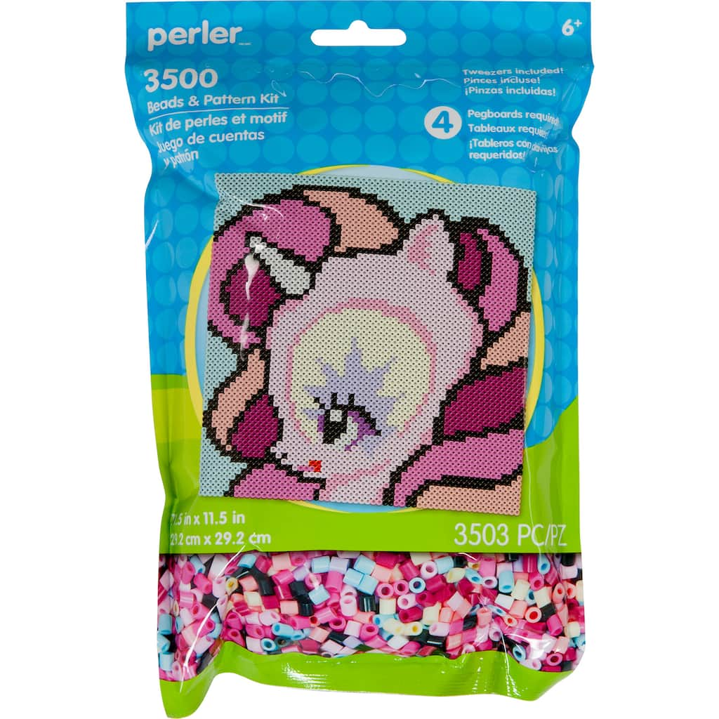 Perler™ Beads & Pattern Sheet Activity Kit, Unicorn