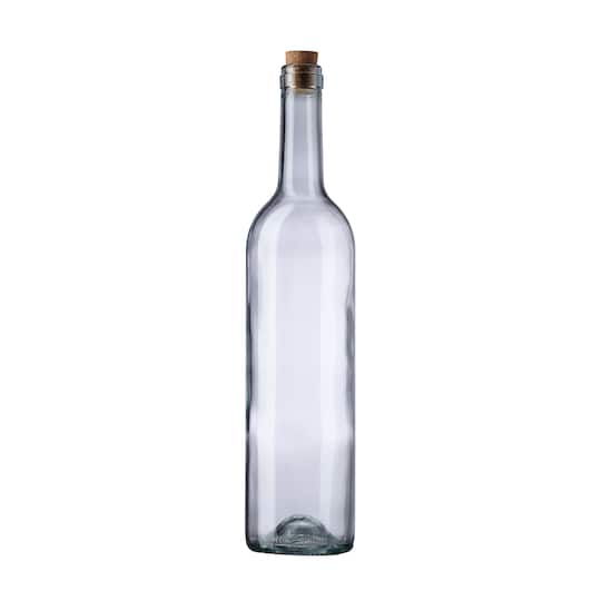 Find The Clear Wine Bottle With Cork By Ashland At Michaels