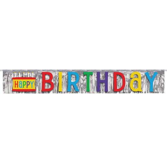 Foil Fringed Happy Birthday Banner