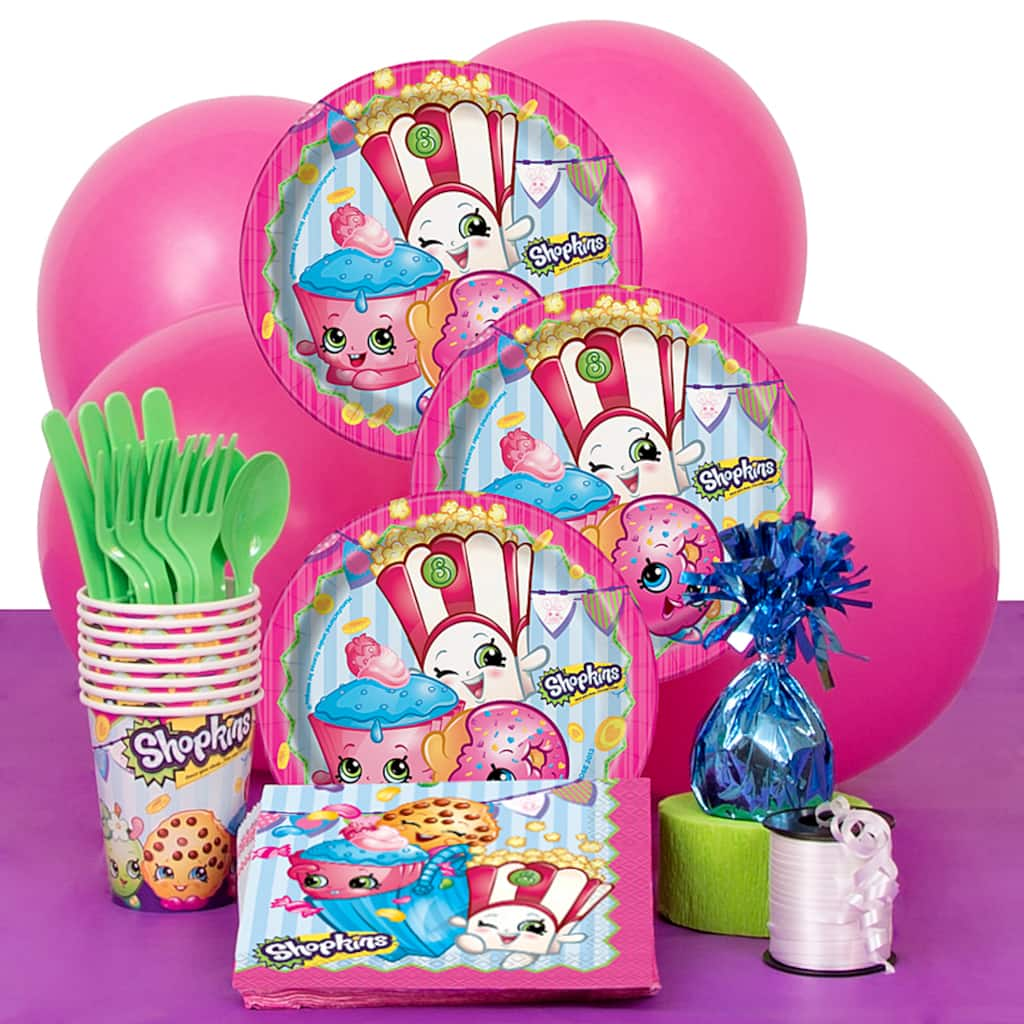 Shopkins Birthday Party Supply Kit For 8