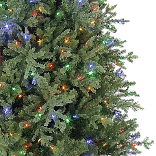 7 5ft Pre Lit Quick Set Hinged Victoria Spruce Full Artificial