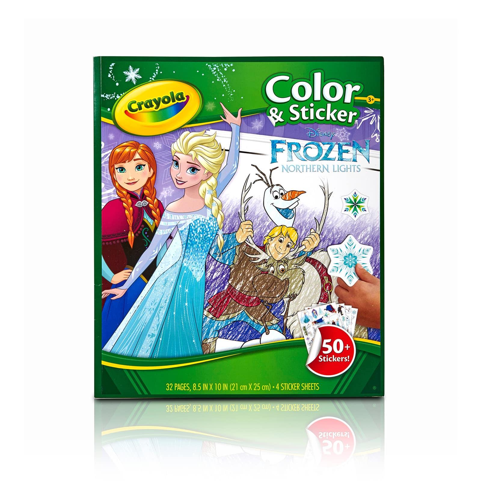 - Crayola® Disney® Frozen Coloring & Sticker Book Michaels