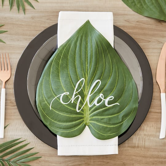 Tropical Palm Leaf Place Setting