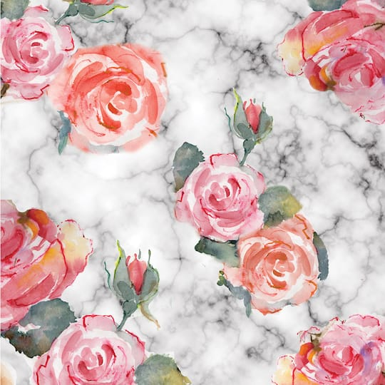 Floral Marble Scrapbook Paper By Recollections 12 X 12