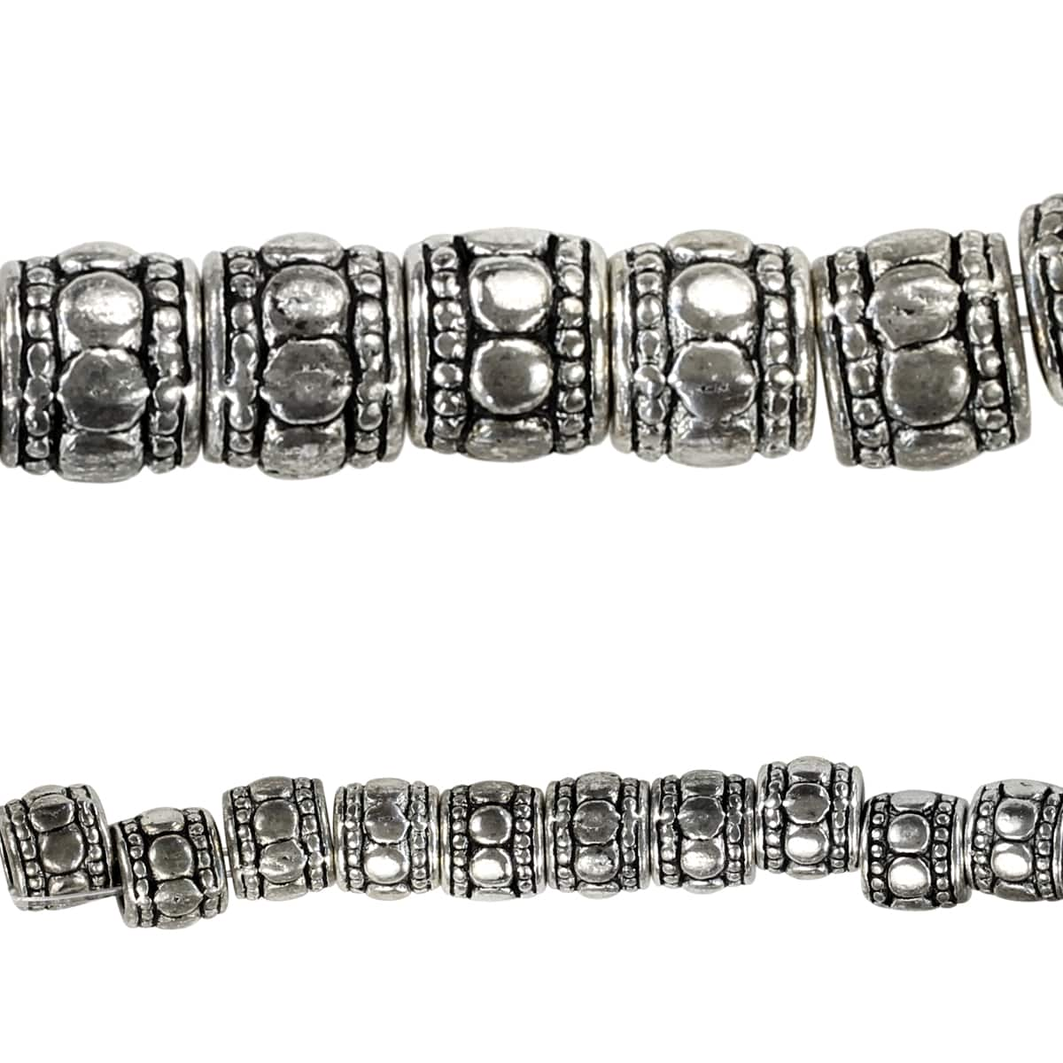 Bead Gallery® Sterling Silver Plated Tube Beads by Bead Gallery